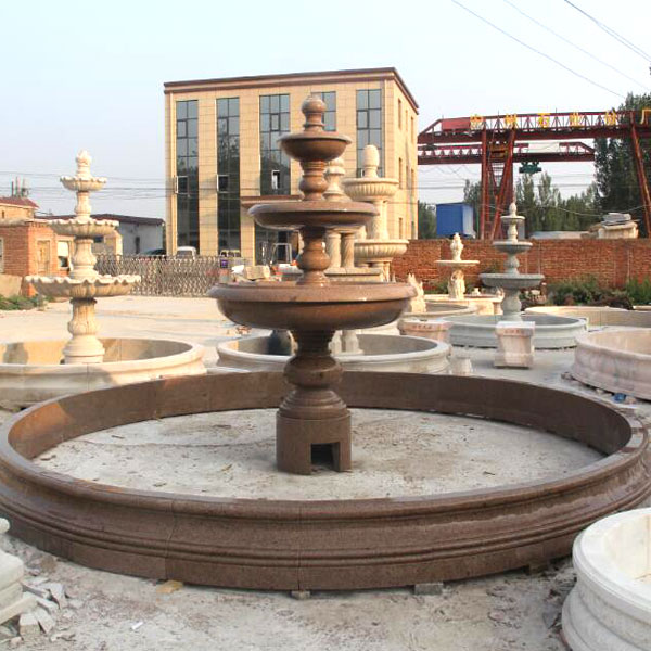Classical design marble carving 3 tiers garden water fountains for public decor MOKK-10