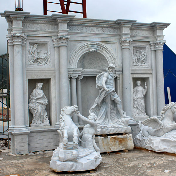 Famous Trevi marble water fountains for the entrance of the park MOKK-12