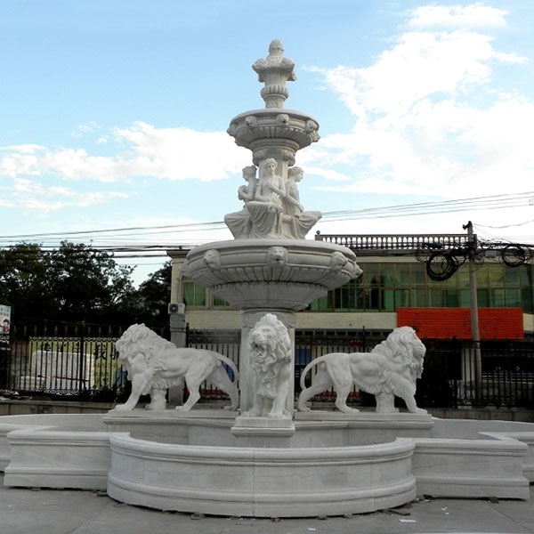 Factory Supply Lion Face 3 Tier Garden Water Fountain With