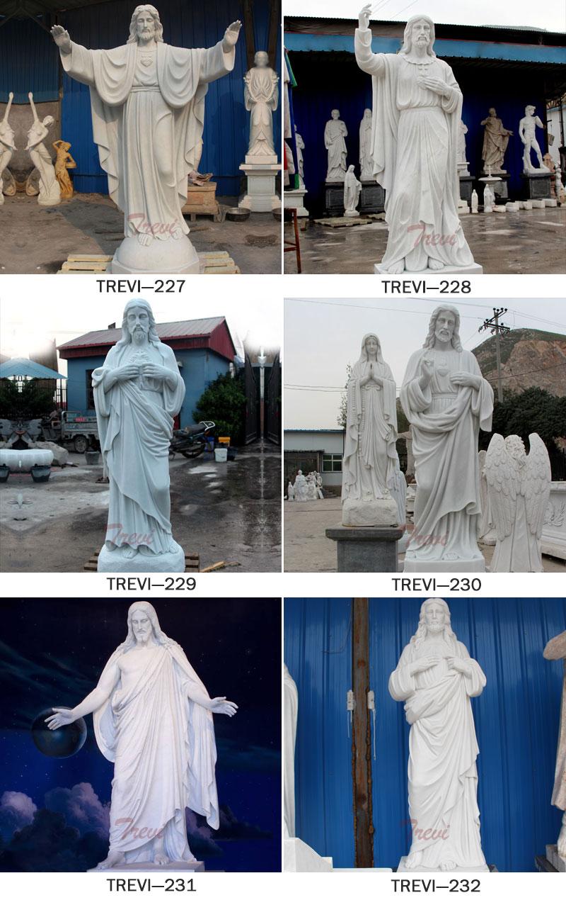 Marble catholic saint statues of jesus designs