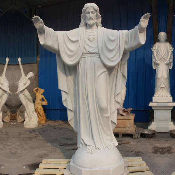 Scared heart of Jesus christ garden marble statues costs TCH-06
