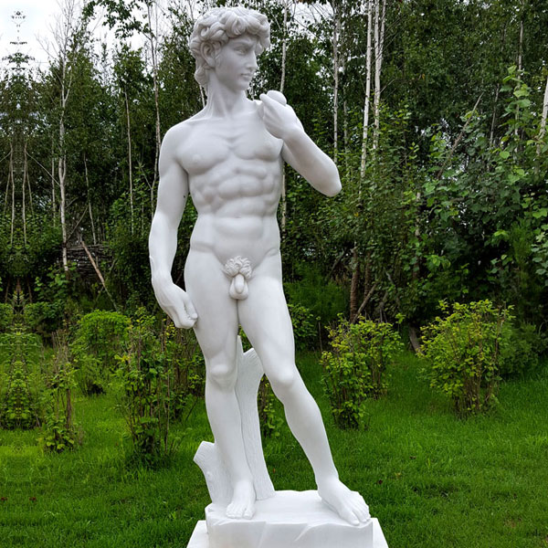 Garden decor michelangelo sculptures famous life size marble figure statue David sculpture replica for sale TMC-05