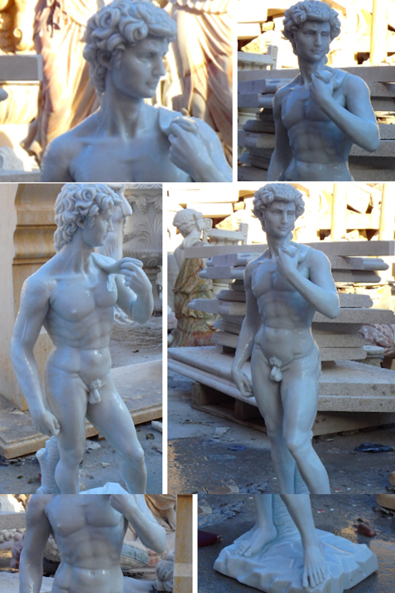 michelangelo sculptures famous life size marble figure statue David sculpture replica