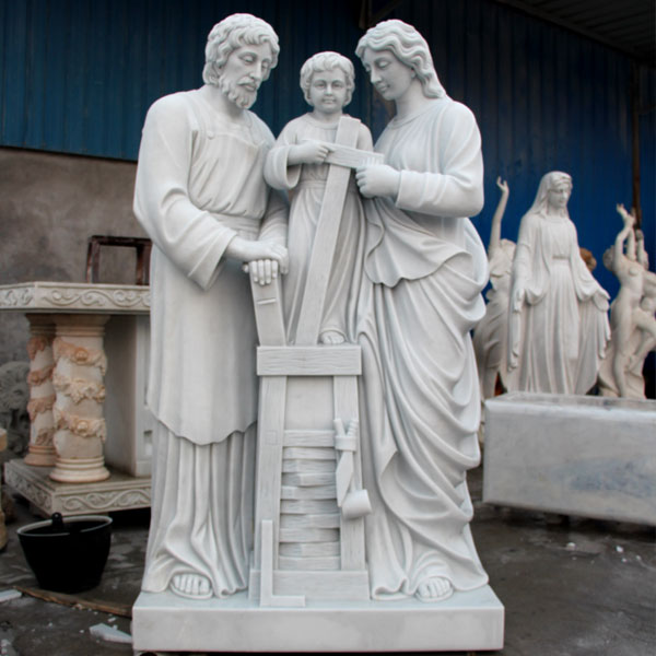 Catholic Holy family garden marble statues and decor online sale TCH-35