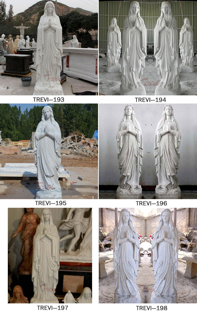 Catholic garden statues and decor our lady of Lourdes designs