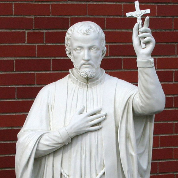 Catholic religious marble statues of Saint Francis Xavier for garden decor TCH-43