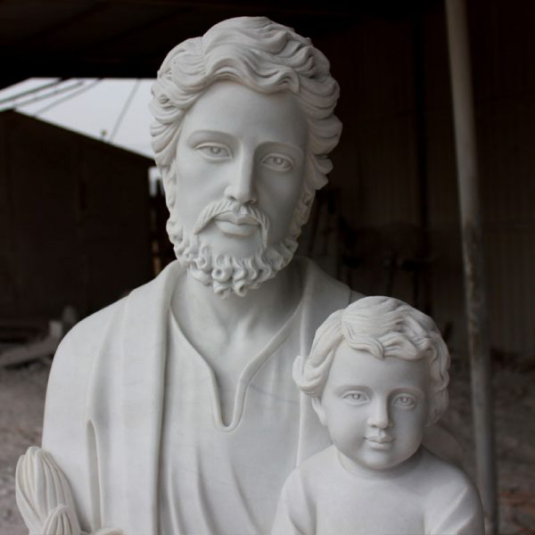 Catholic saint religious garden marble statues of Saint Joseph to buy TCH-34