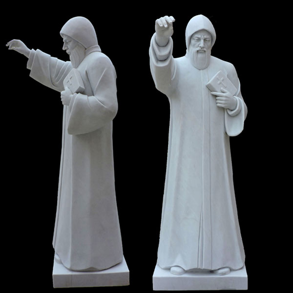 Catholic saint religious marble statues of st charbel for sale TCH-41