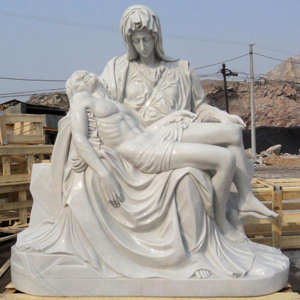 Church religious garden stone statues of Michelangelo's Pieta online sale TCH-42