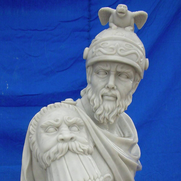 Famous art marble garden carving sculptures of warriors Rome TCH-03