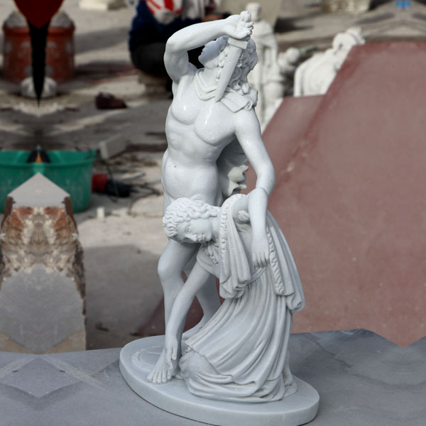 Home decor Ludovisi Gaul kills his wife famous marble garden art statues TCH-18