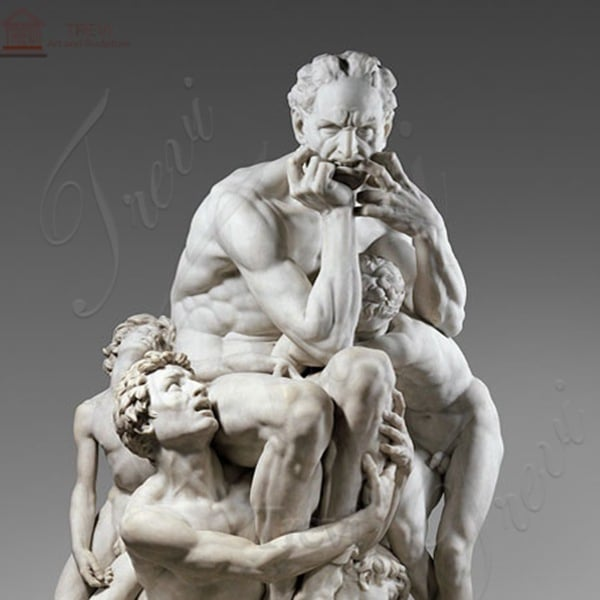 White Famous Marble Sculptures Ugolino and His Sons Life Size for Sale MOKK-209