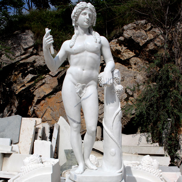 Life size marble famous sculptures God of wine Dionysus for sale
