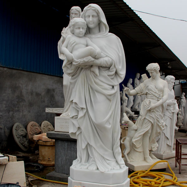 Mother Mary hold Baby Jesus life size marble statues price TCH-22