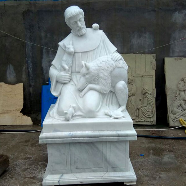 Outdoor catholic saint garden statues of St Francis for churches TCH-47