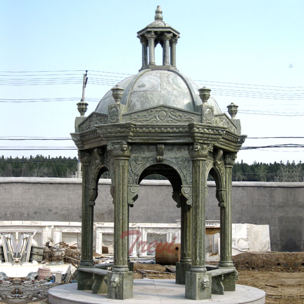 Antique Italian marble decorative gazebo for outdoor ornaments costs