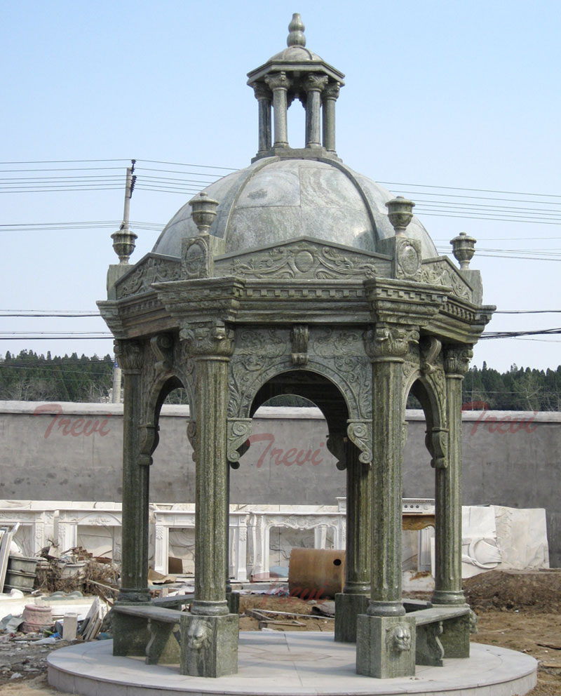 Antique Italian marble decorative gazebo for outdoor ornaments designs costs