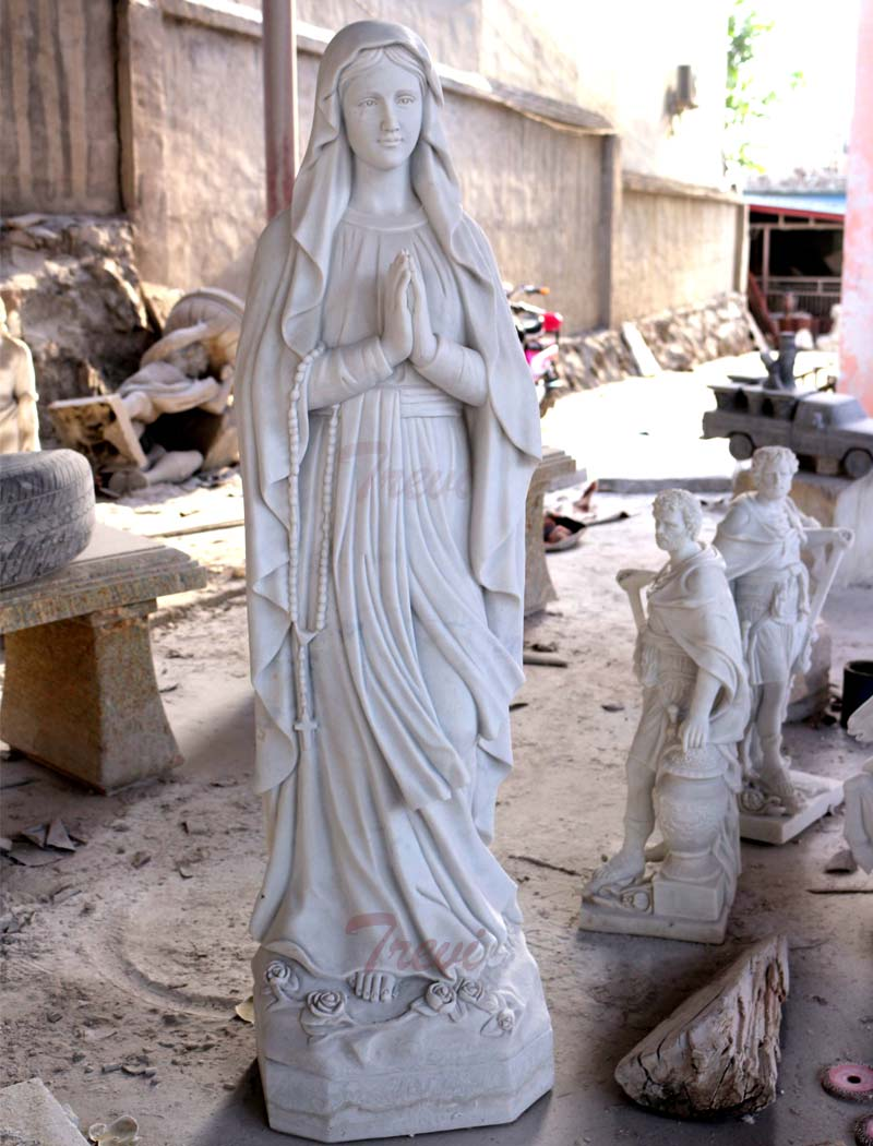Catholic saint marble statues of our lady lourdes for garden