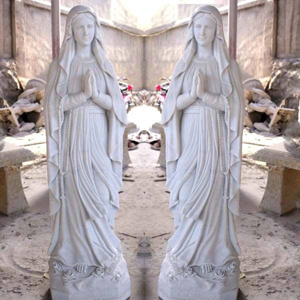 Catholic saint marble statues of our lady lourdes for outdoor garden