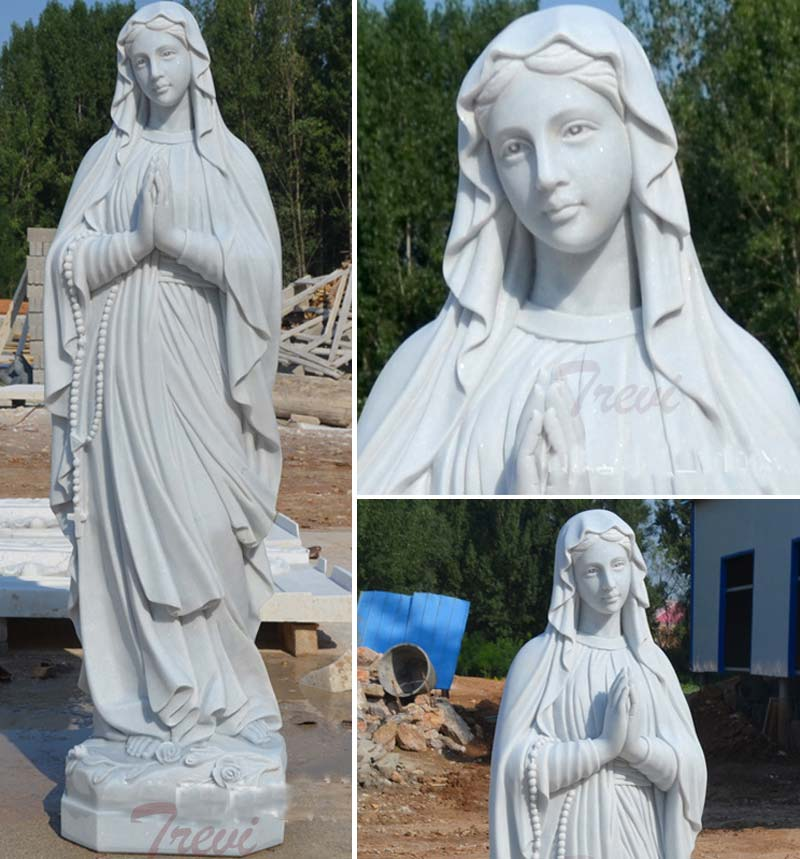 Catholic saints our lady of Lourdes blessed virgin mary marble statues for church details