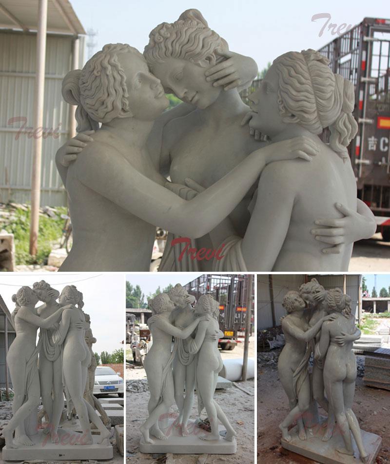 Garden marble 3 graces sculpture louvre replica for sale details