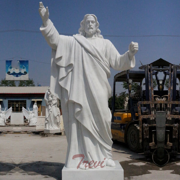 Religious Garden Marble Statues of Large Christ Jesus for Catholic Church Decor TCH-49