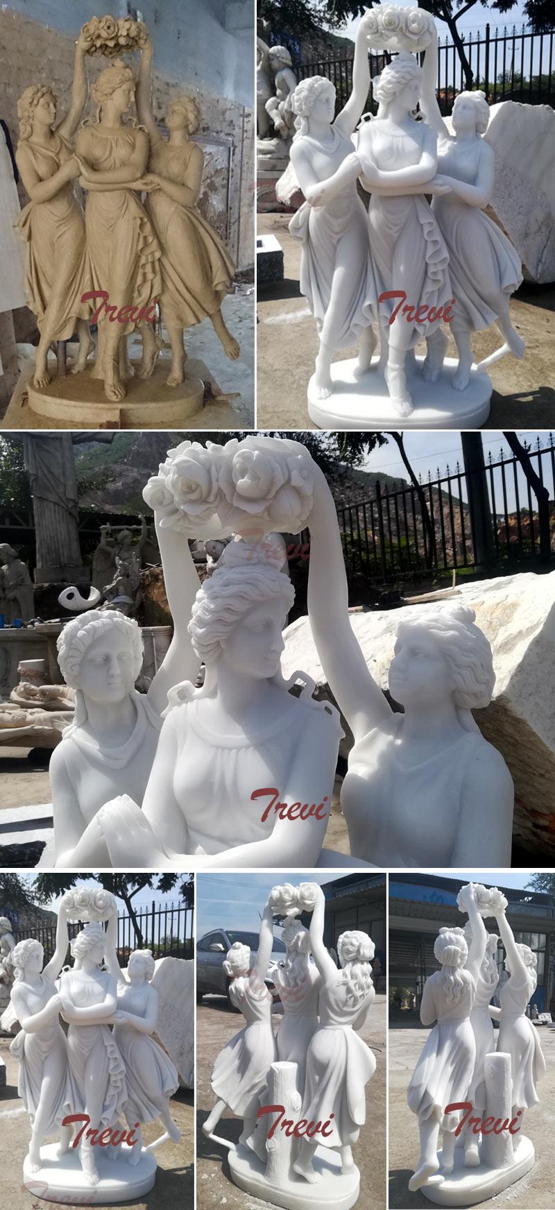 The three grace marble garden sculpture louvre for sale details