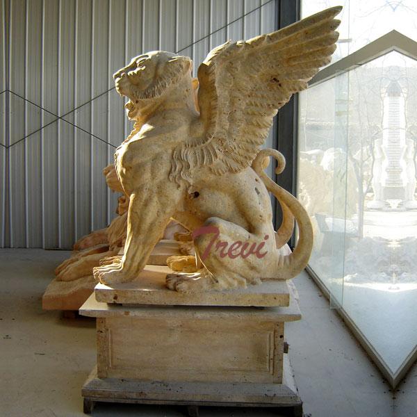 Antique marble stone gargoyle garden statues for driveway