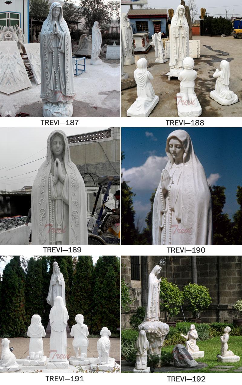 Catholic garden statues of fatima different designs