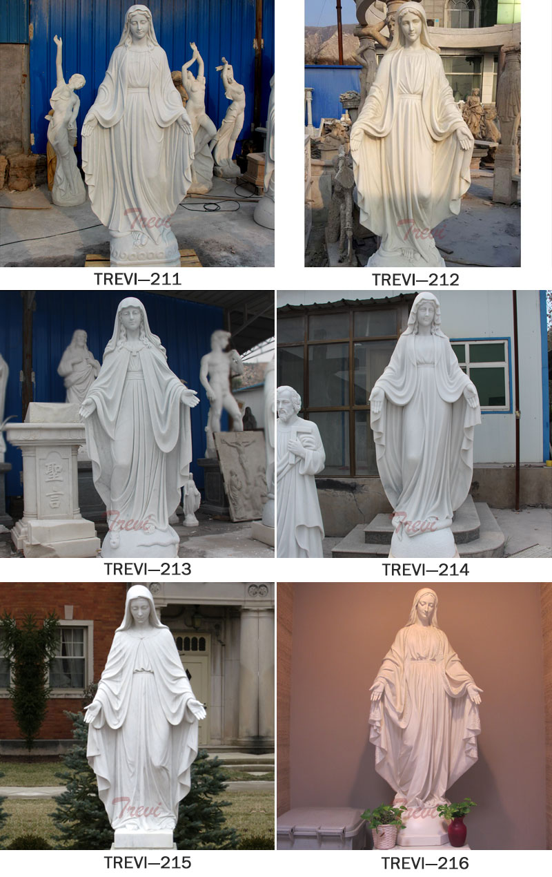 Catholic marble garden statues of mary