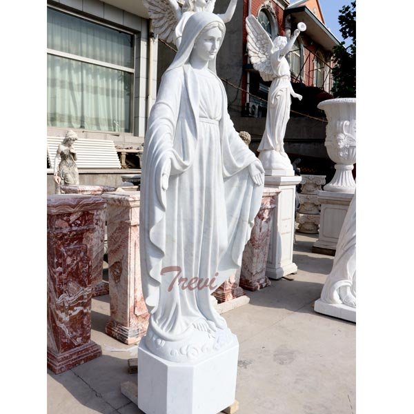 Catholic outdoor sculptures of madonna mary statue for garden