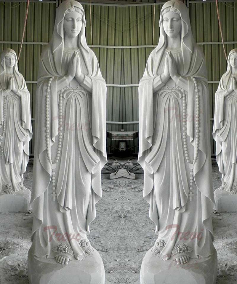 Our lady of Lourdes blessed mother catholic garden outdoor statues for sale