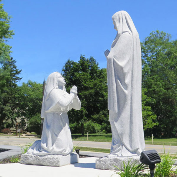 Our lady of Lourdes show  miracle vision to st bernadette at grotto France