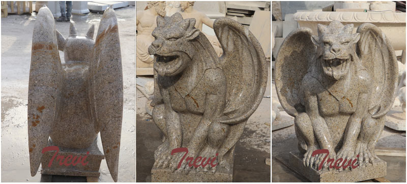 Outdoor stone garden decor gargoyles statues for sale