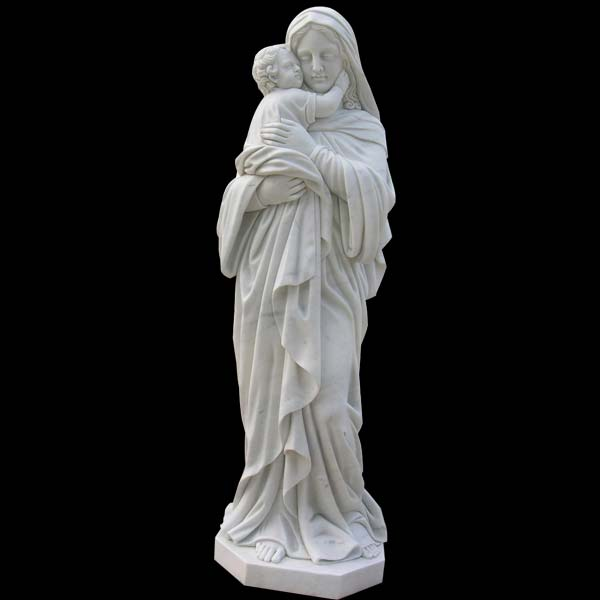 Religious garden statues of madonna and child outdoor statues for sale TCH-54