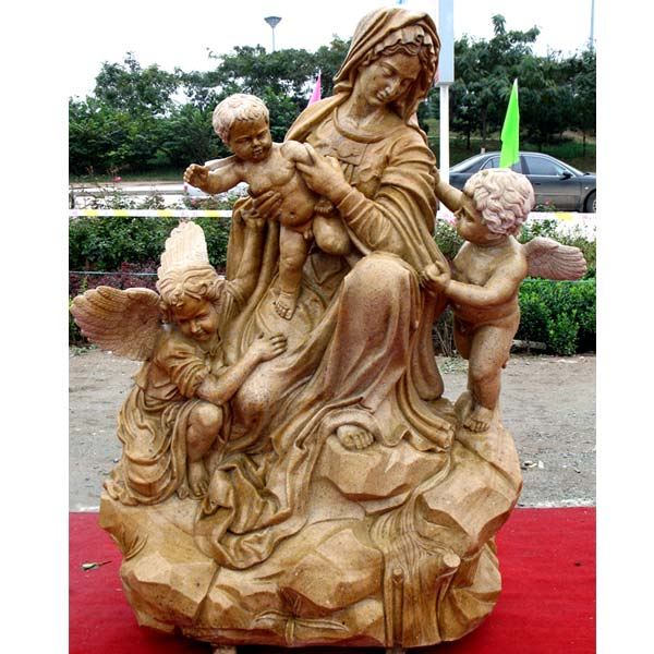 The madonna and child angel large outdoor religious statues for sale TCH-58