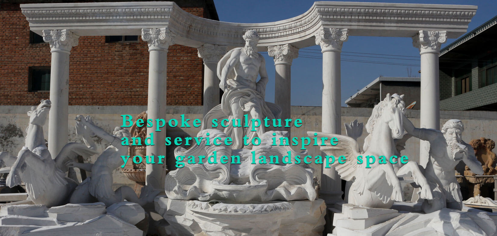 Outdoor large famous trevi marble fountain italy rome