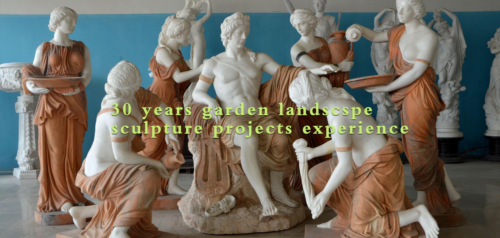 Garden landscape famous marble sculpture sets outdoor lawn ornaments