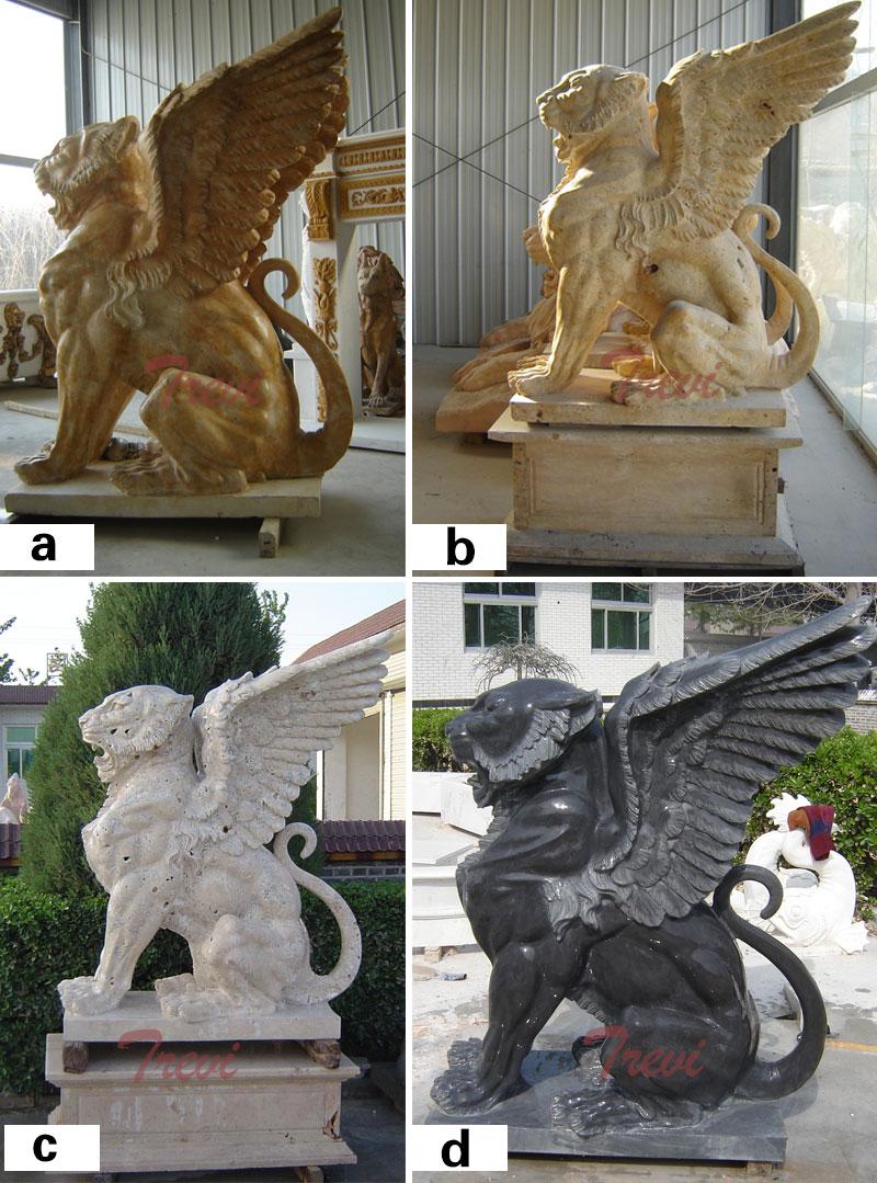 lion gargoyle statues designs