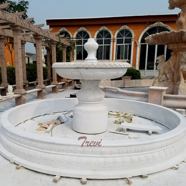Best marble natural stone decorative 2 tier water fountain designs home depot sale