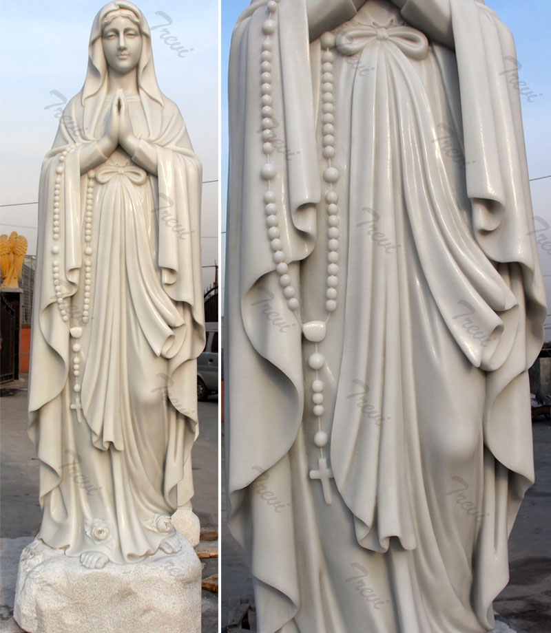 Blessed virgin mary lourdes religious catholic garden statues outdoor for sale