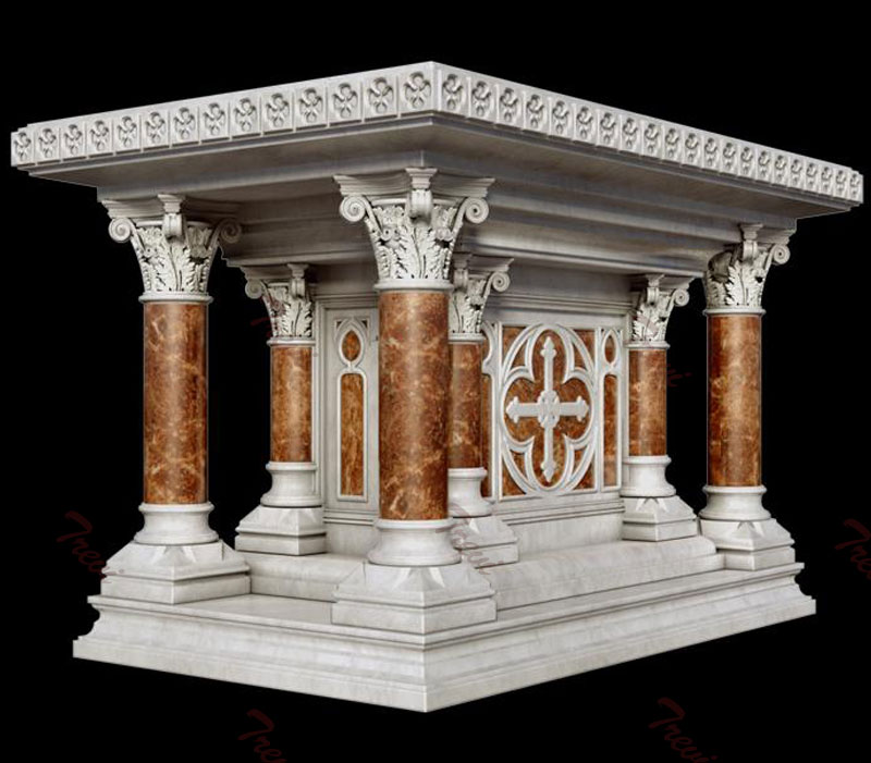 Buy modern marble altar table design for church decoration