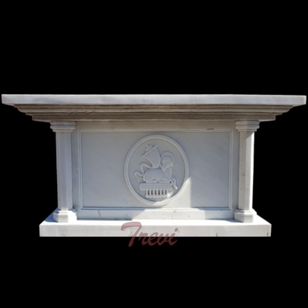 Factory supply catholic church altars table white marble sculpture for sale TCH-112