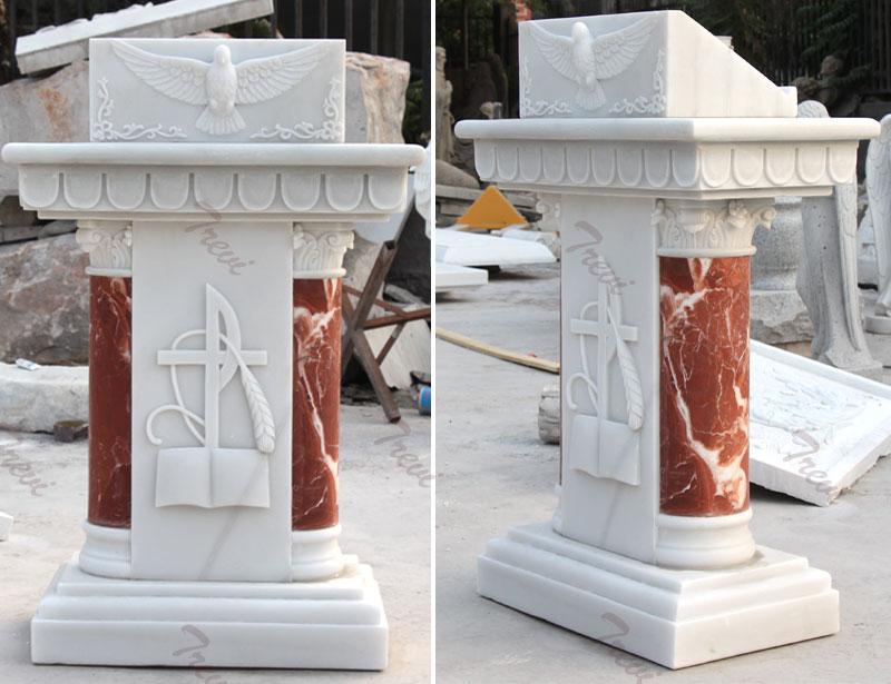 Classical church lecterns and pulpits marble furniture designs for sale