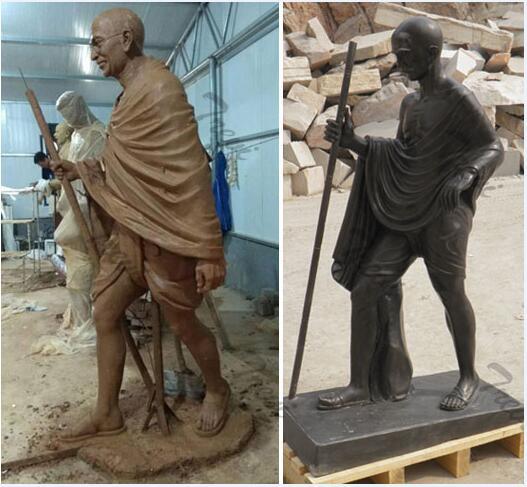 Custom india superhero life size stone statues of gandhi for sale
