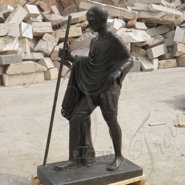 Custom India superhero stone statues of Gandhi for sale TMC-28