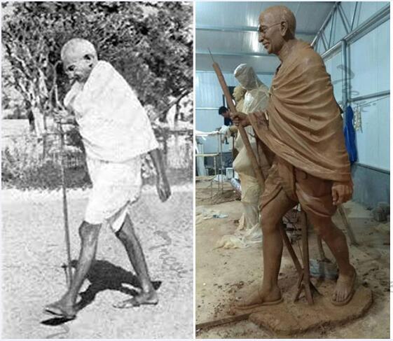 Custom india superhero stone statues of gandhi from photo for sale