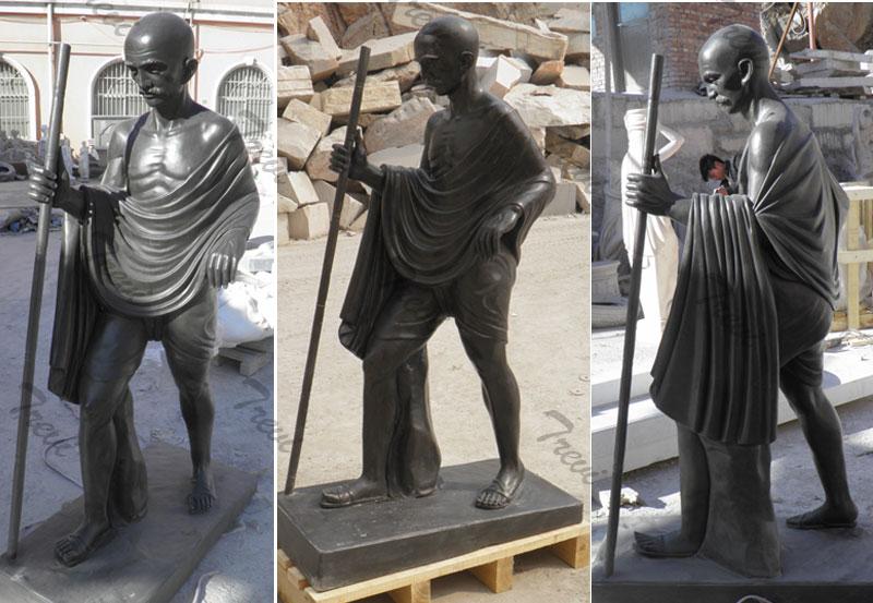 Custom india superhero stone statues of gandhi online sale