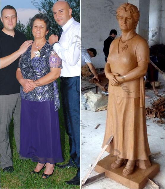 Custom marble photo statues of yourself clay modelcosts for sale
