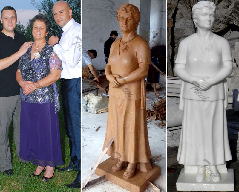 Custom marble photo statues of yourself online costs